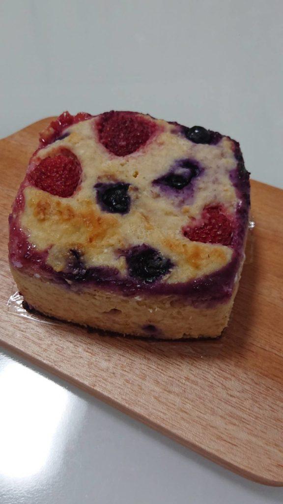 糖質&脂質オフ♡ダブルベリーのオートミールチーズケーキ